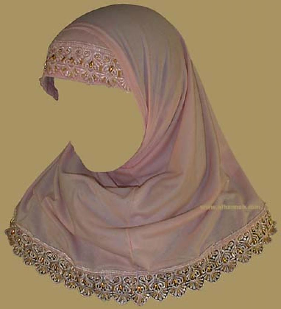 Girl's Beaded Two Piece Religious Veil  ch332