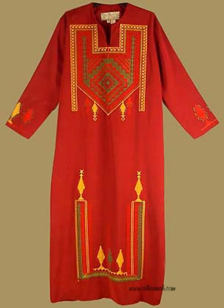 Girls Embroidered Bedouin Style Thobe ch335