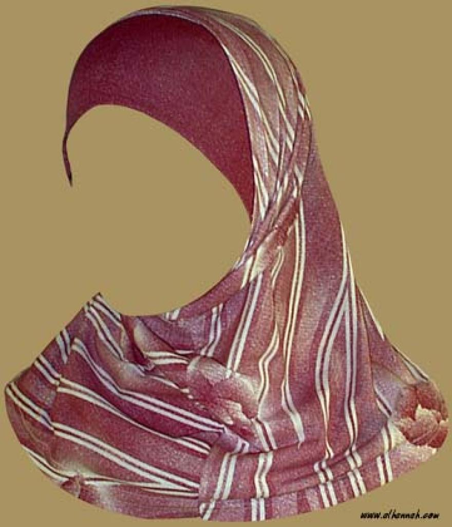 Girl's Printed Two Piece Hijab  ch337