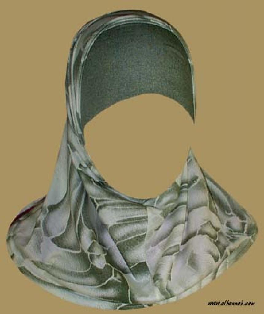 Girl's Printed Two Piece Hijab  ch339