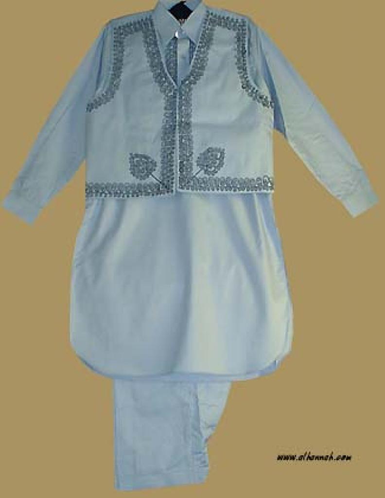 Boy's Embroidered Three Piece Salwar Kameez ch341