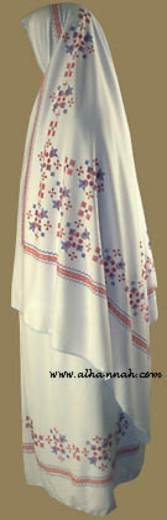Girl's Cross Stitch Style Print Prayer Outfit  ch346