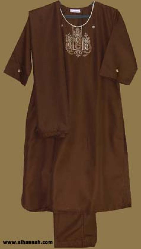 Girl's Embroidered 3 Piece Salwar Kameeze ch351