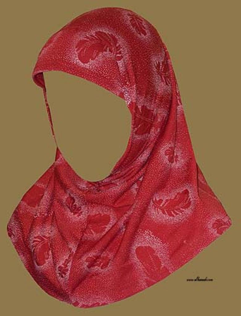 Girl's Printed Two Piece Hijab  ch357