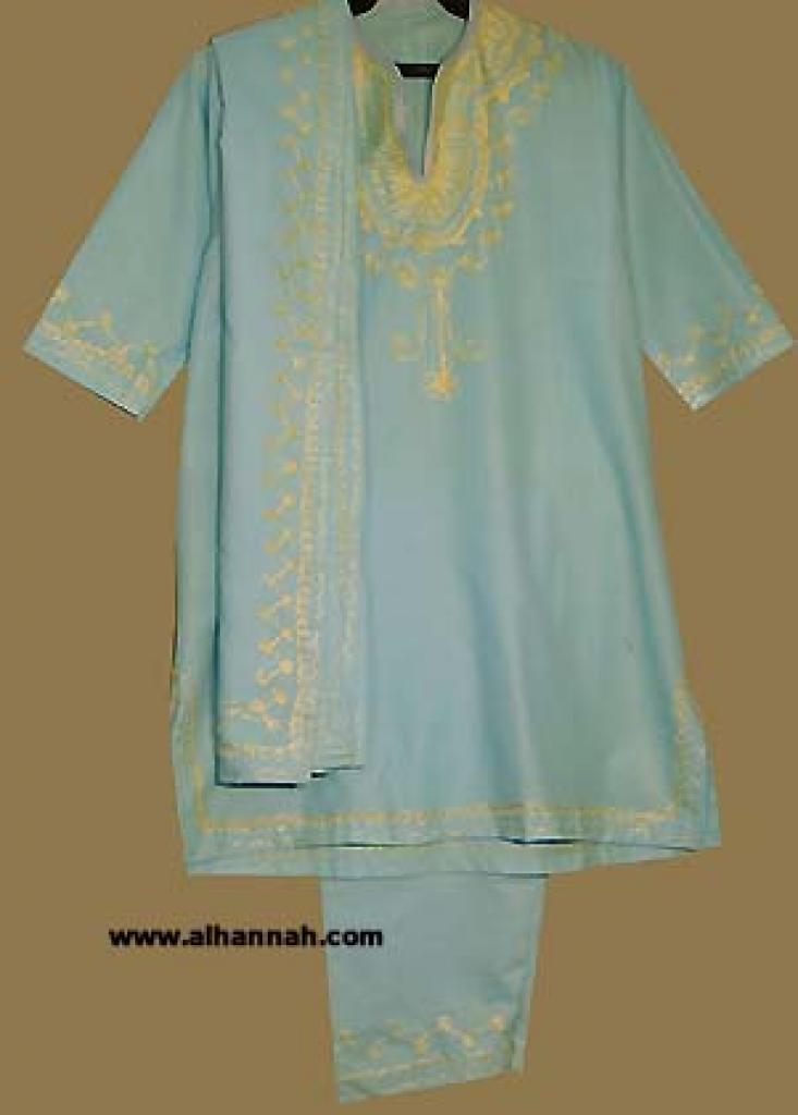 Girls 3 Piece Arabian Salwar Kameez suit ch359