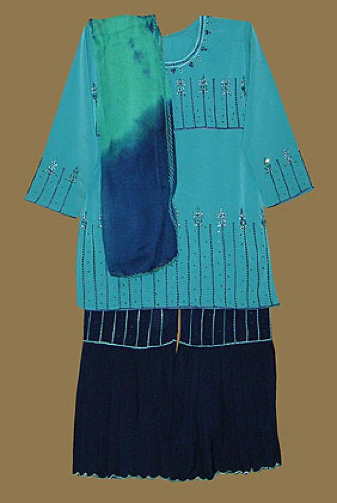 Girls sequined and beaded Salwar Kameez ch368