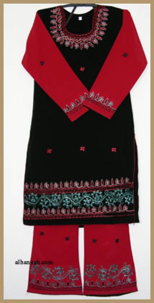 Girls Embroidered Salwar Kameez ch378