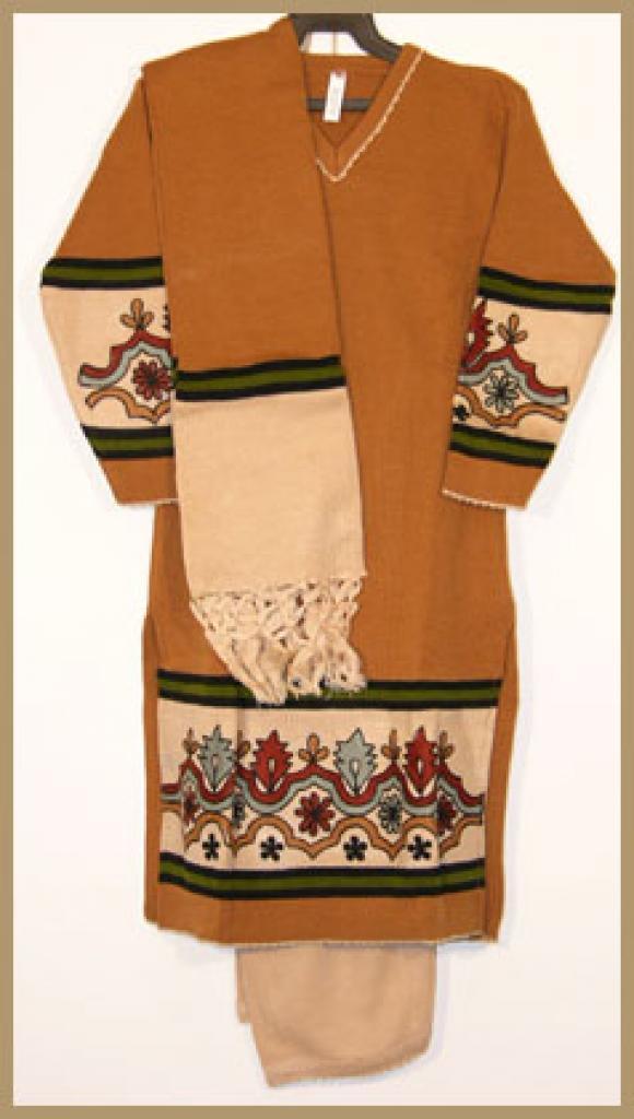 Girls Embroidered Knit Salwar Kameez ch386