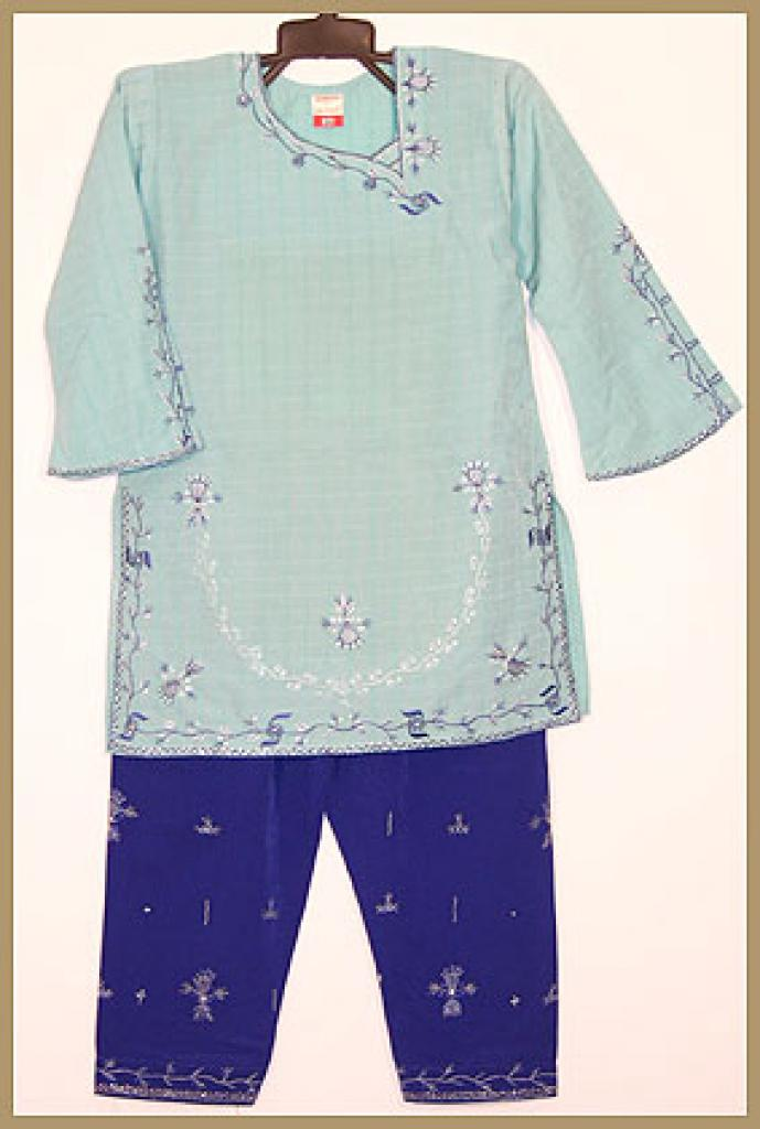 Girls Embroidered Salwar Kameez ch387