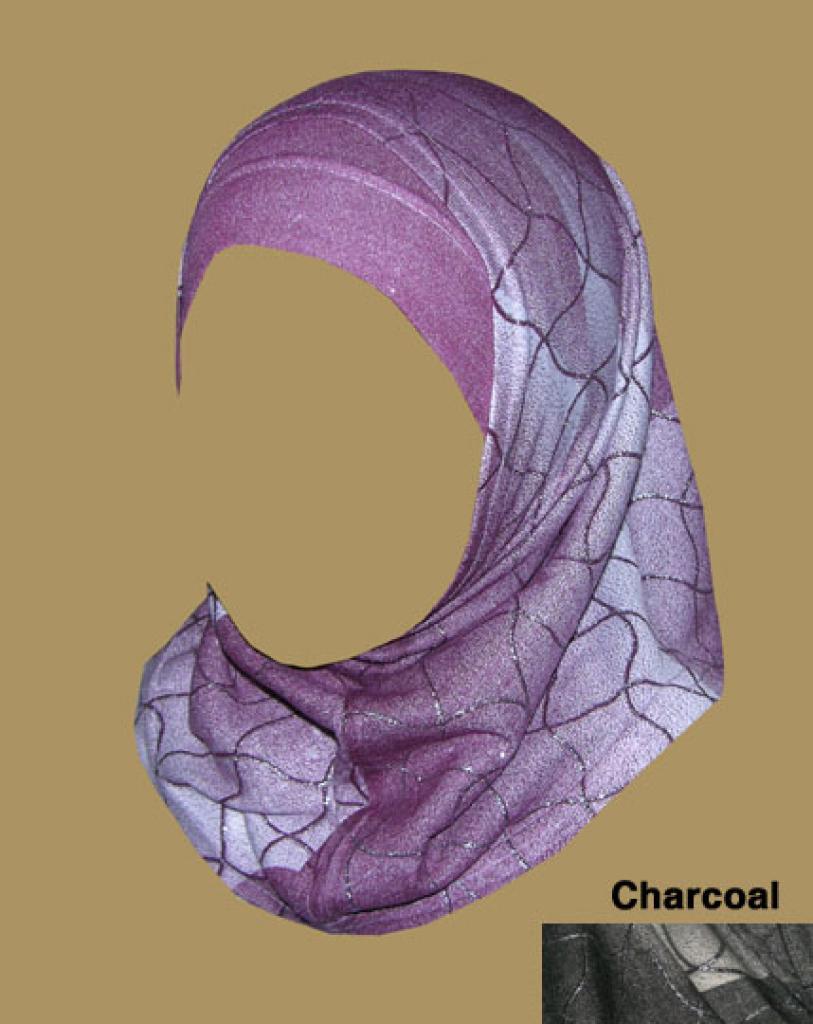 Girl's Printed Two Piece Hijab ch397