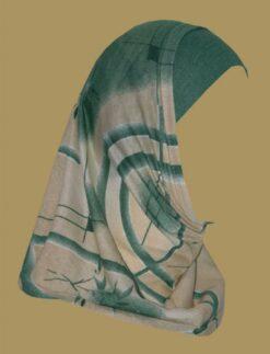 Girl's Printed Two Piece Hijab ch398