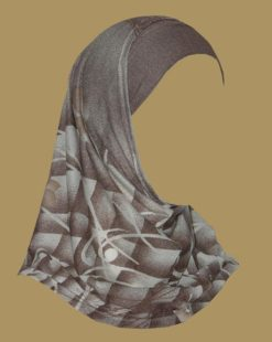 Girl's Printed Two Piece Hijab ch400