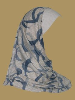 Girl's Printed Two Piece Hijab ch402