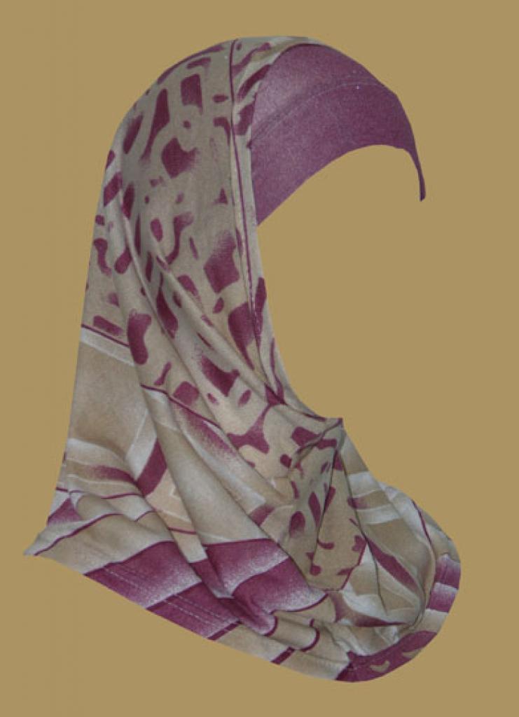 Girl's Printed Two Piece Hijab ch409