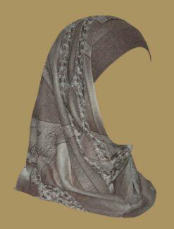 Girl's Printed Two Piece Hijab ch410