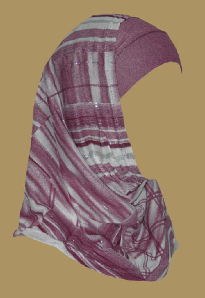 Girl's Printed Two Piece Hijab ch411