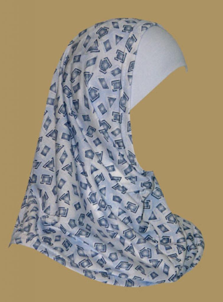 Girl's Printed Two Piece Hijab ch412
