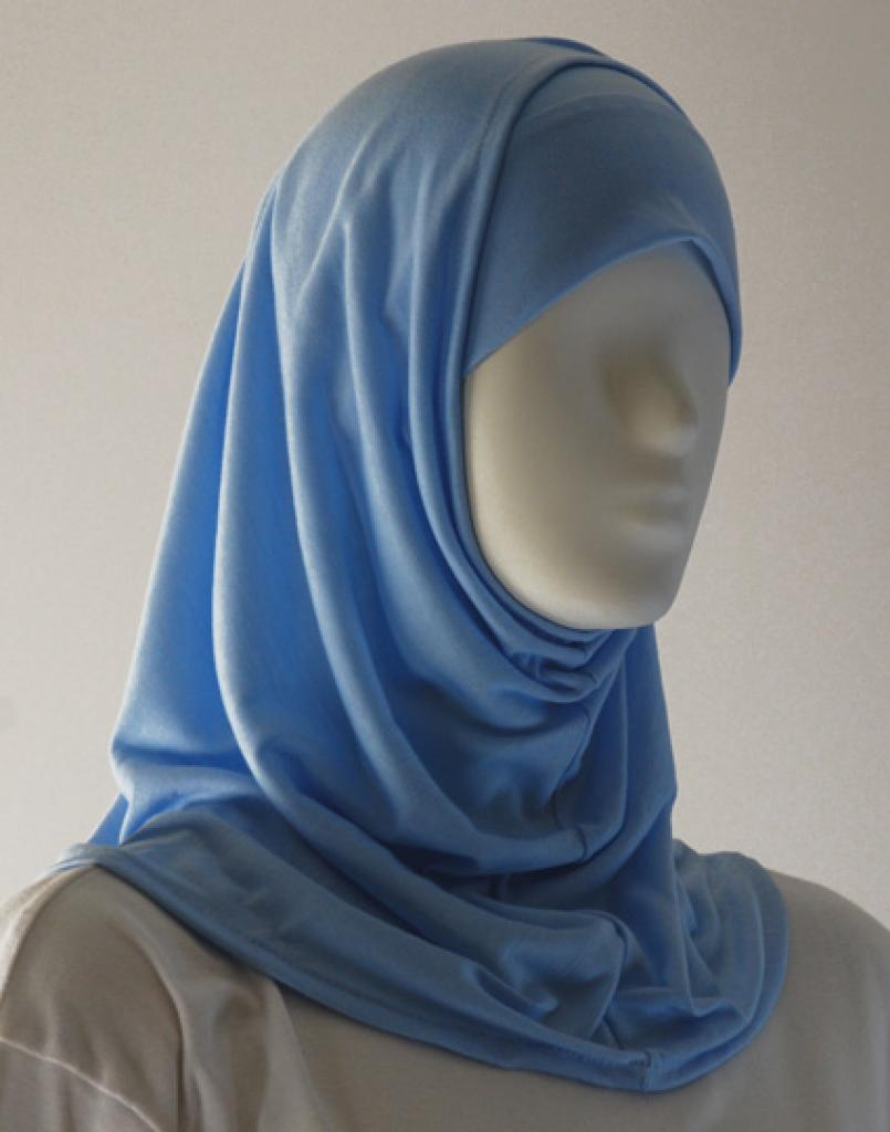 Girls Plain Edge Two Piece Hijab  ch419