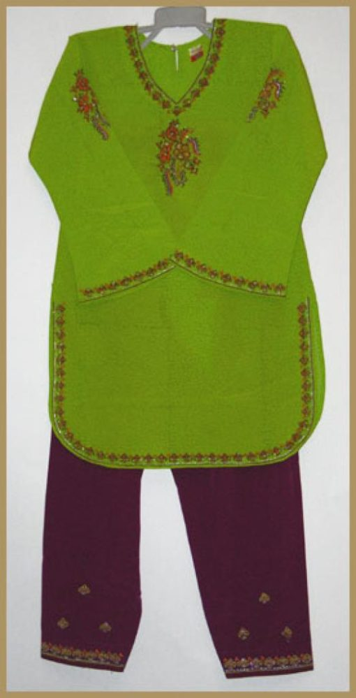 Girls Embroidered Salwar Kameez ch420