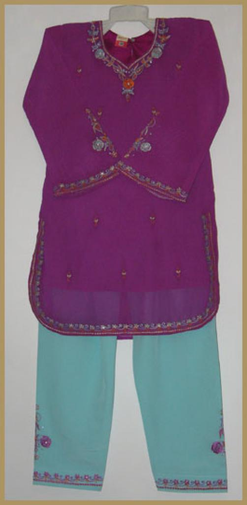 Girls Embroidered Salwar Kameez ch422