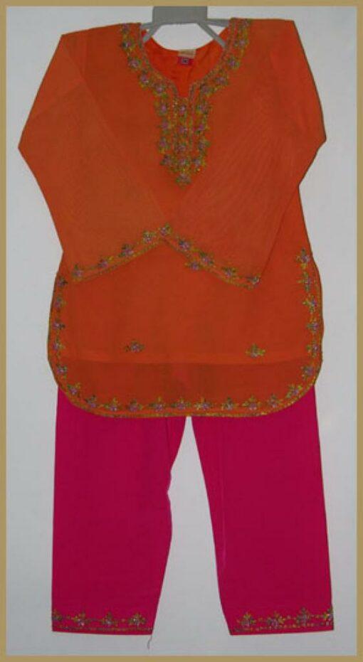Girls Embroidered Salwar Kameez ch423