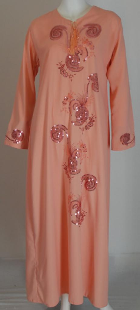 Girls Spiral Embroidered Thobe ch448