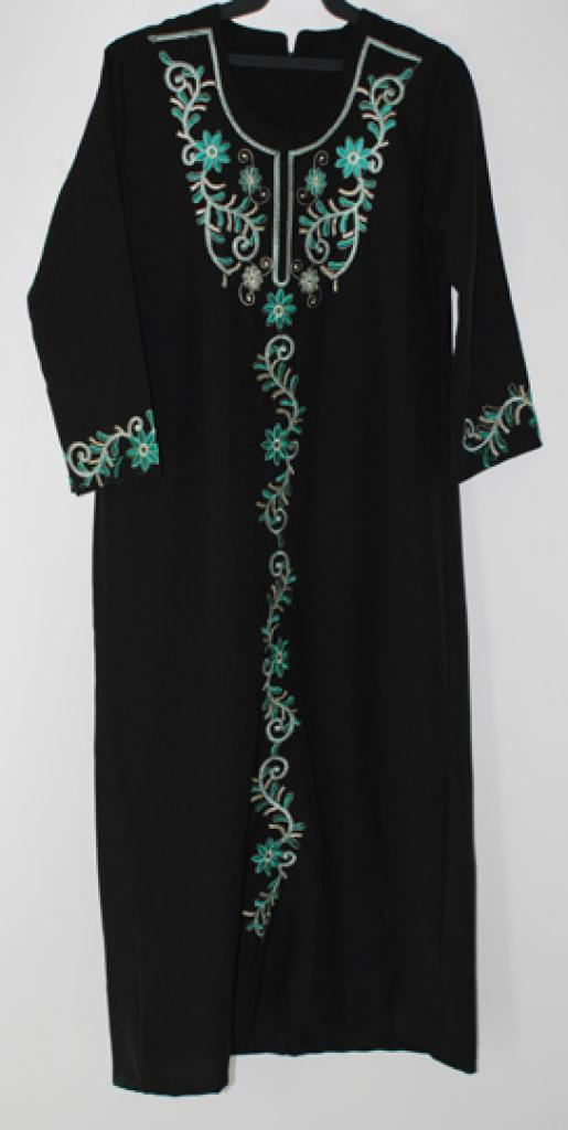 Girls Floral Embroidered Thobe ch449