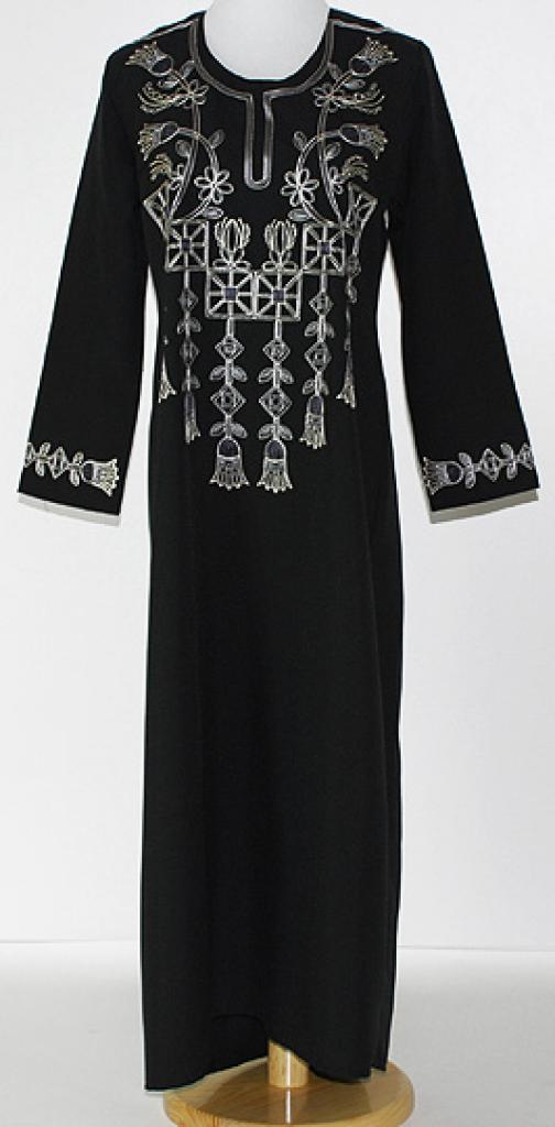 Girls Floral Embroidered Thobe ch450
