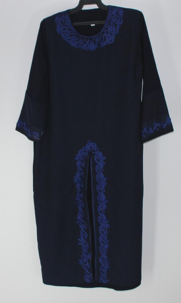 Girls Abaya with Sprial Embroidery ch451