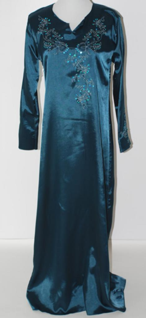 Girls Embroidered Satin Thobe ch452