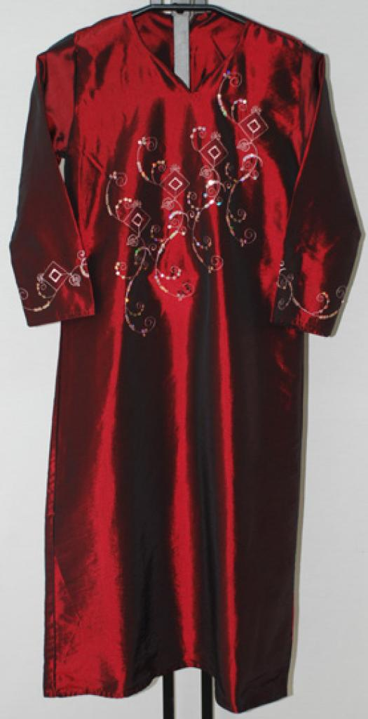 Girls Embroidered Satin Thobe  ch464