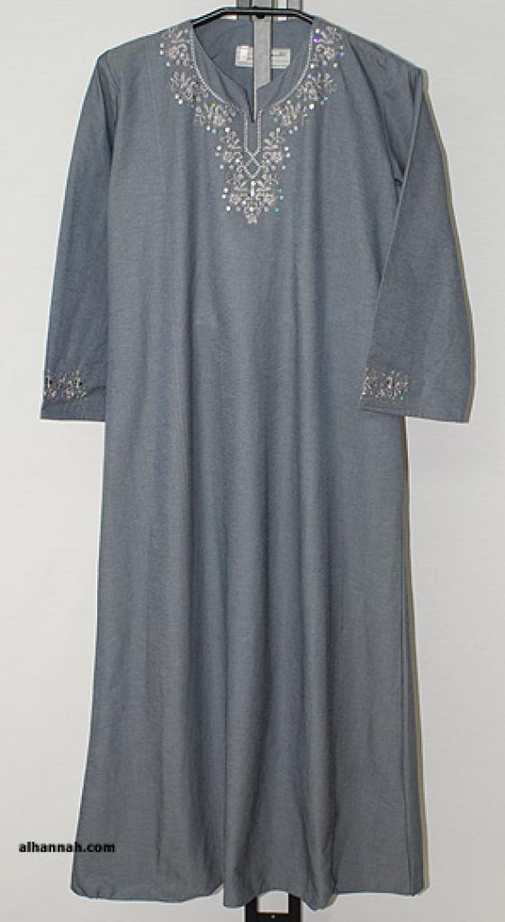 Girls Al Karam Embroidered Thobe ch465