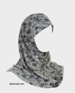 Girls  Amira Flower Print Hijab - 2 Piece ch494