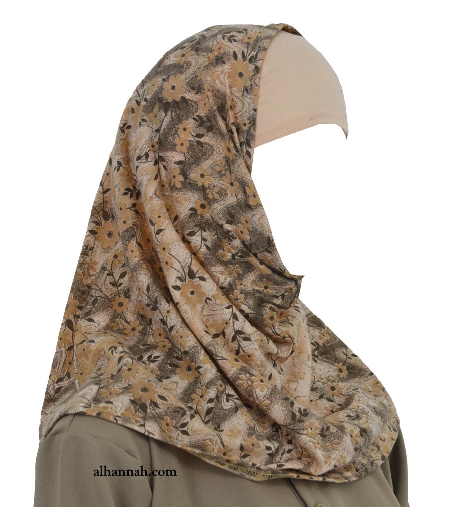 Girls AlAmirah Hijab - Mini Floral Printed ch501