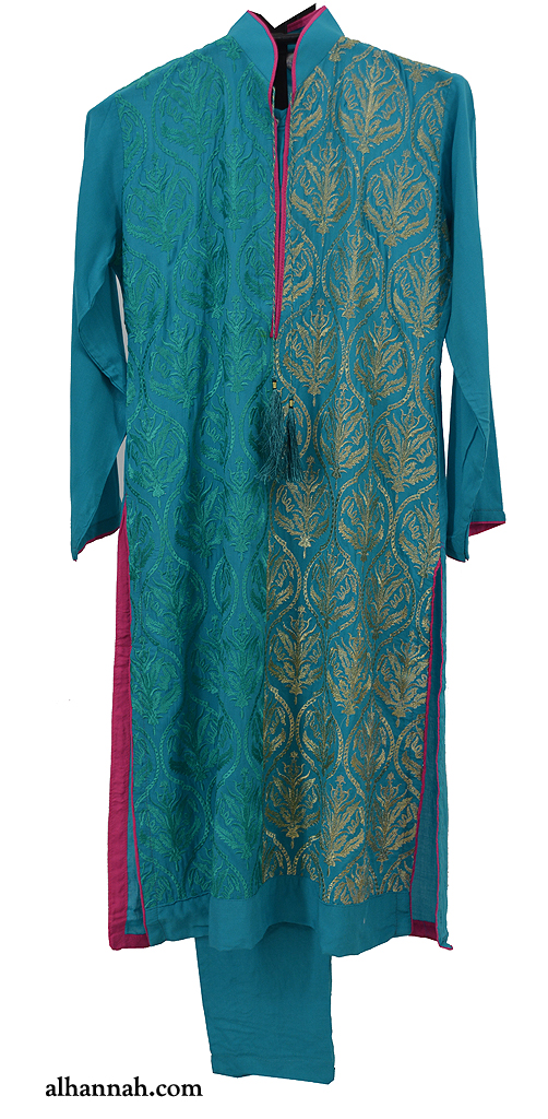 Girls Deluxe Aqua Formal Salwar Kameez ch511