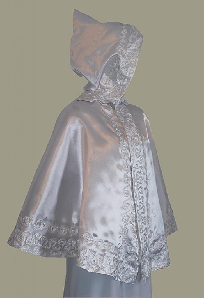Hooded Bridal Cape - Waist Length ct504