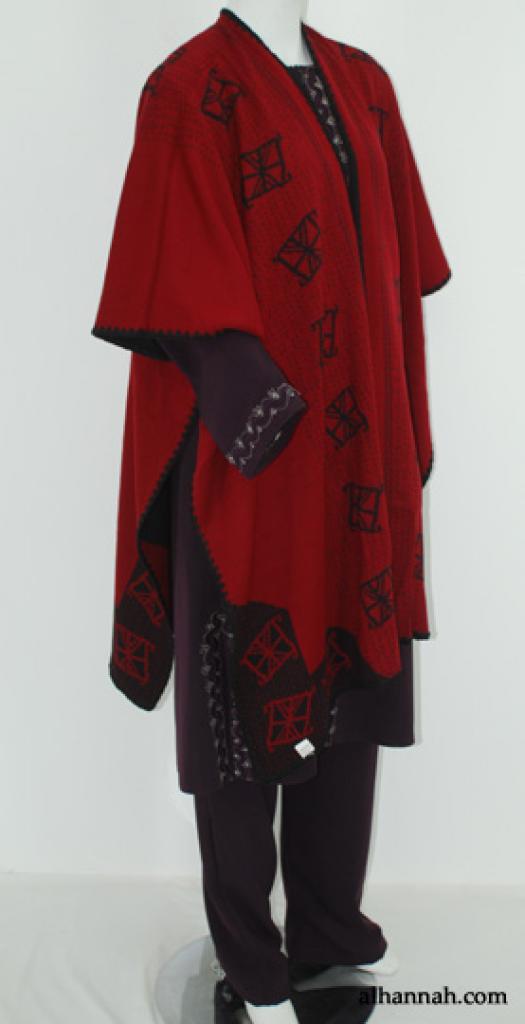 Womens Woven Acrylic Poncho ct507
