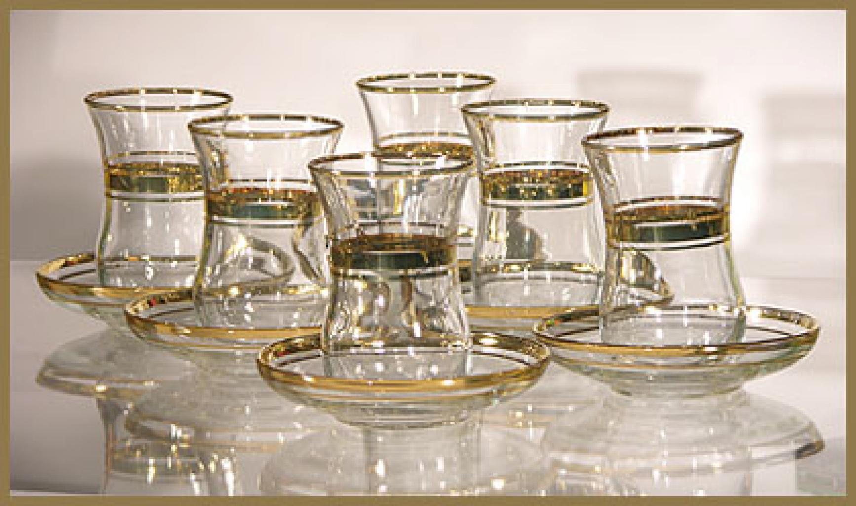 Arabian Tea Set with Gold Trim gi312