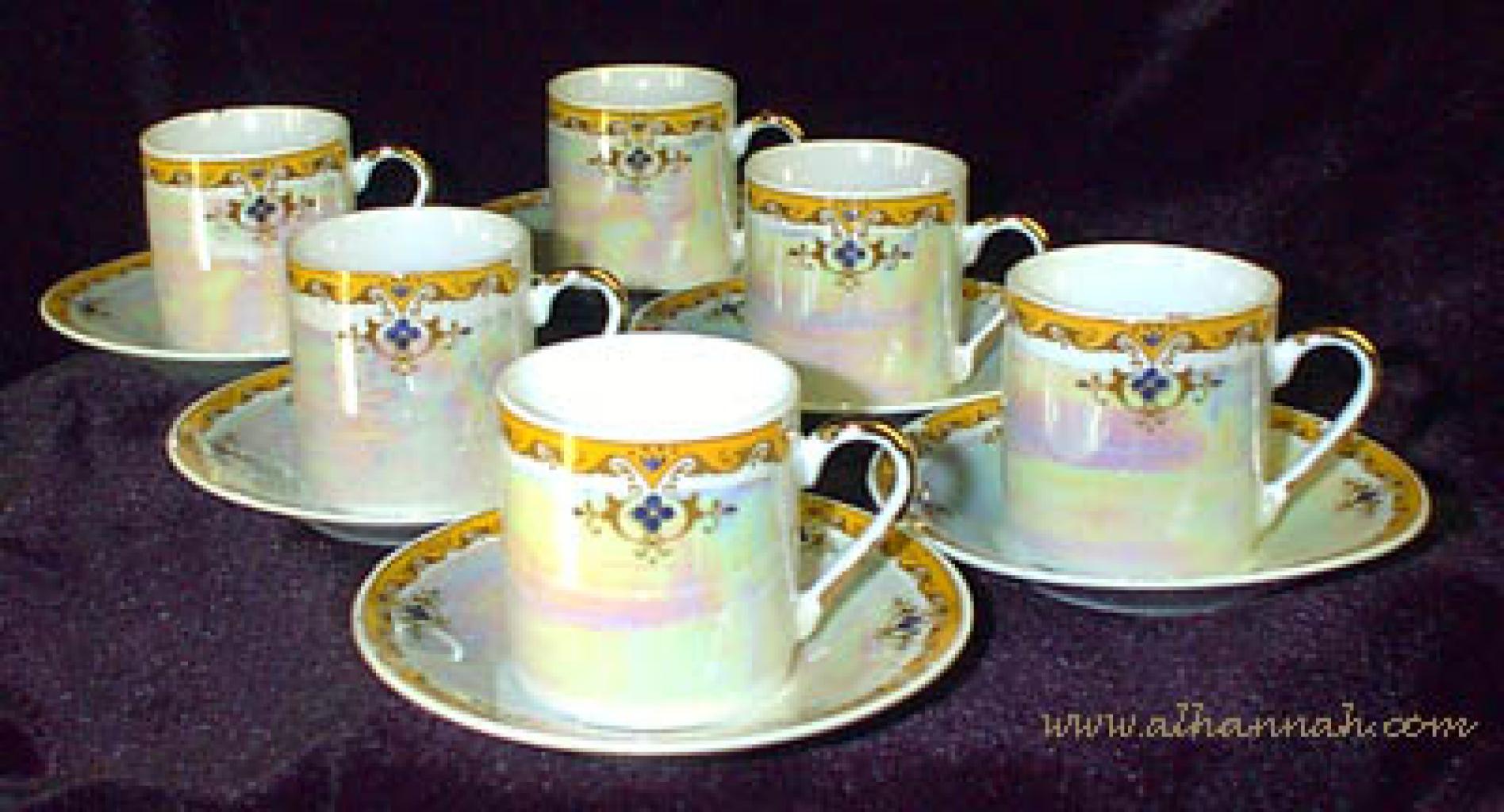 Arabian Demitasse Cup and Saucer Set gi315