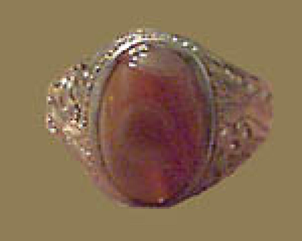 Mens Silver Hajger Kareem Ring   gi329