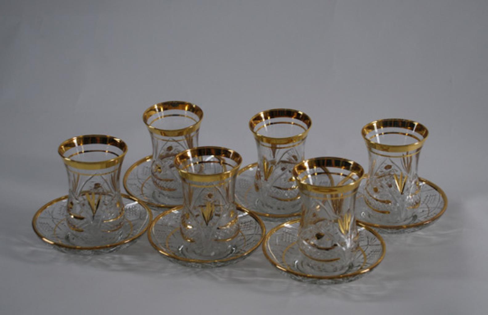Turkish Cut Glass Arabian Tea Set gi440