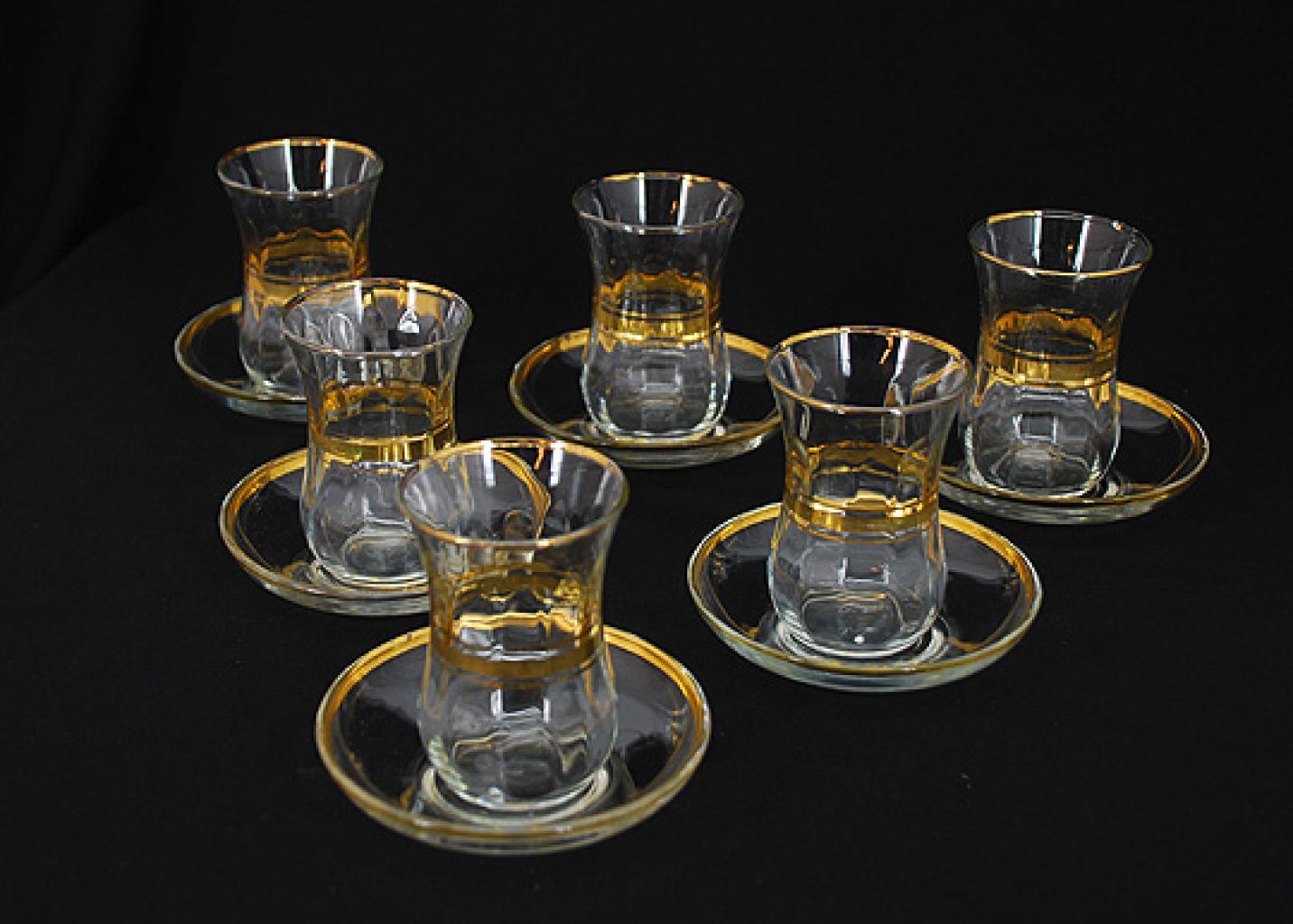 Arabian Tea Set with Gold Trim   gi576