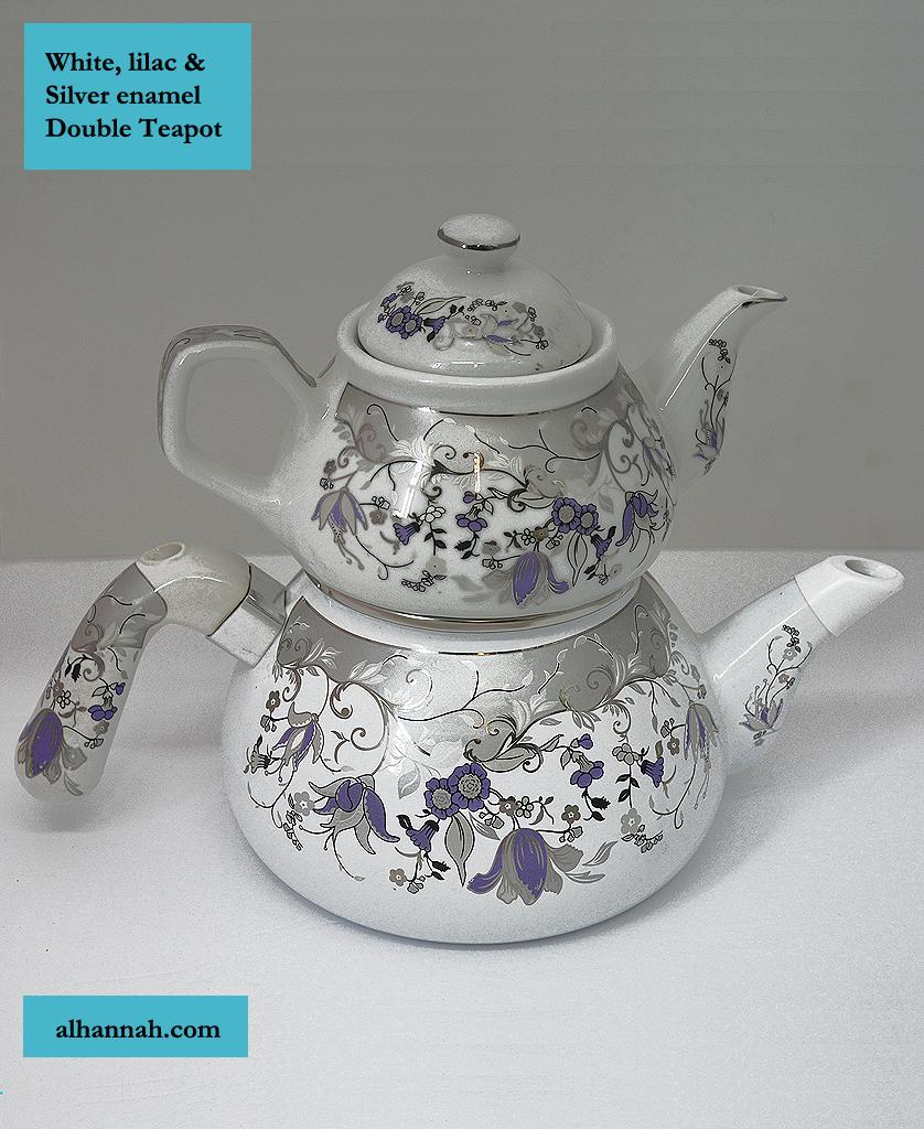Baked Enamel Turkish Double Teapot gi905