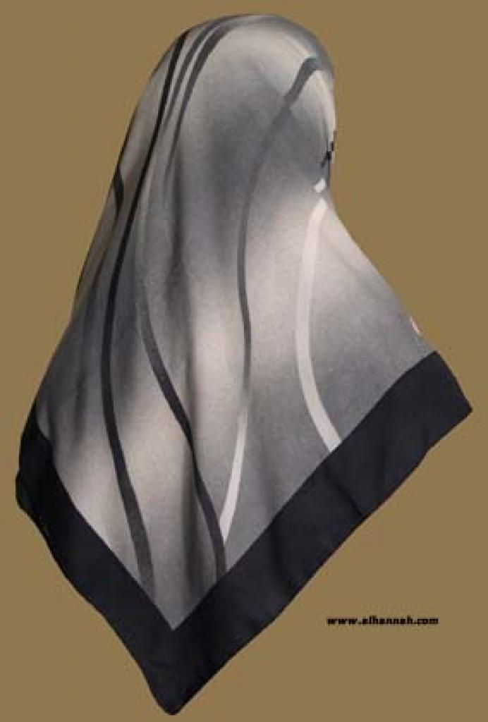 Georgette Chiffon Hijab  hi1042