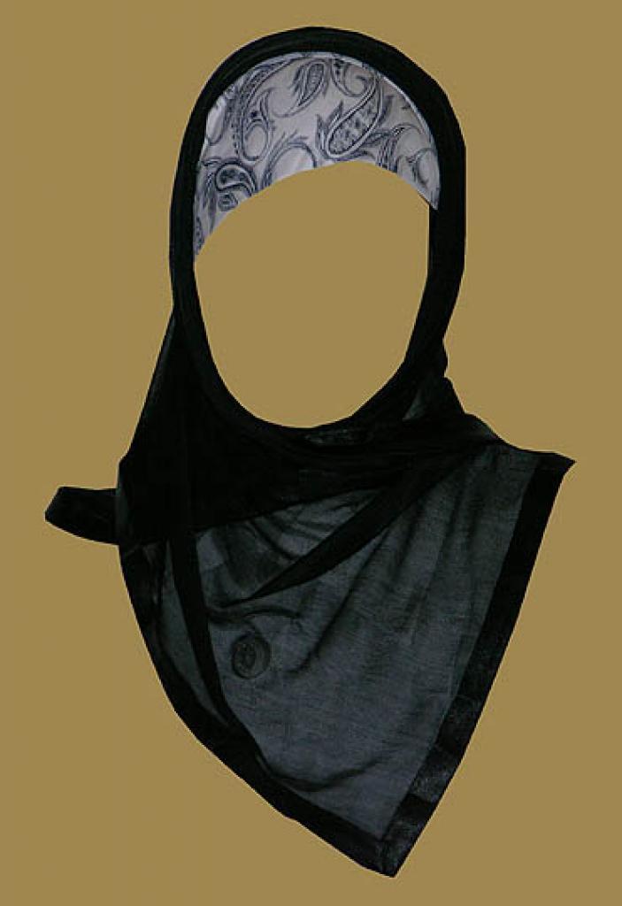 Kuwaiti Style Wrap Hijab hi1164