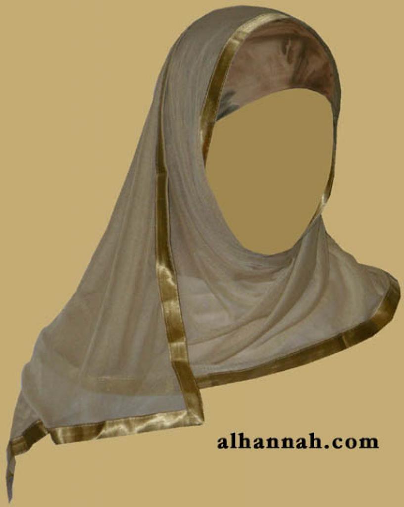 Kuwaiti Style Wrap Hijab hi1166