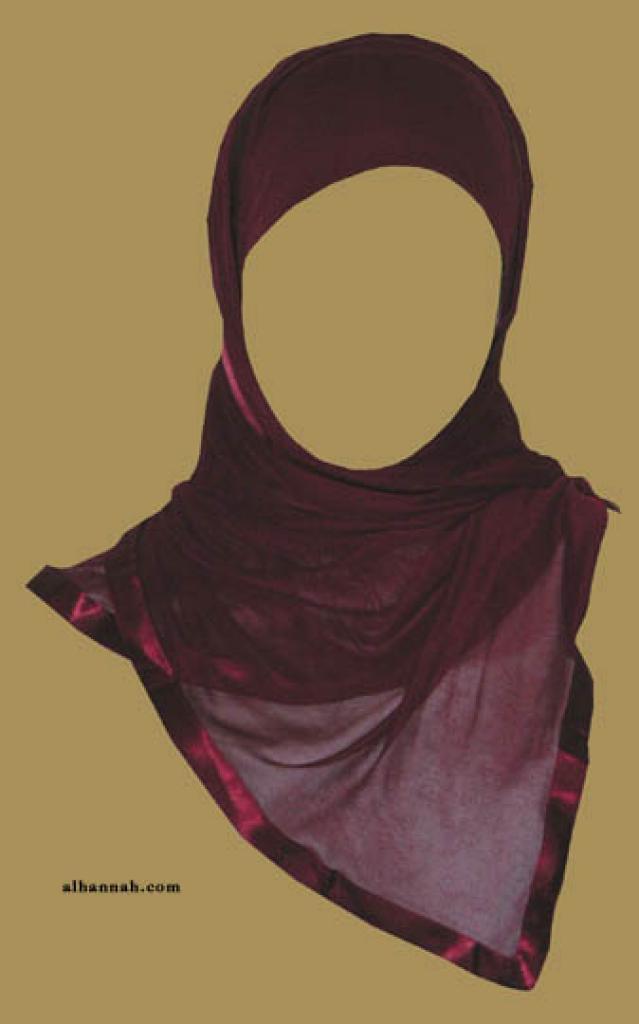 Kuwaiti Style Wrap Hijab hi1168