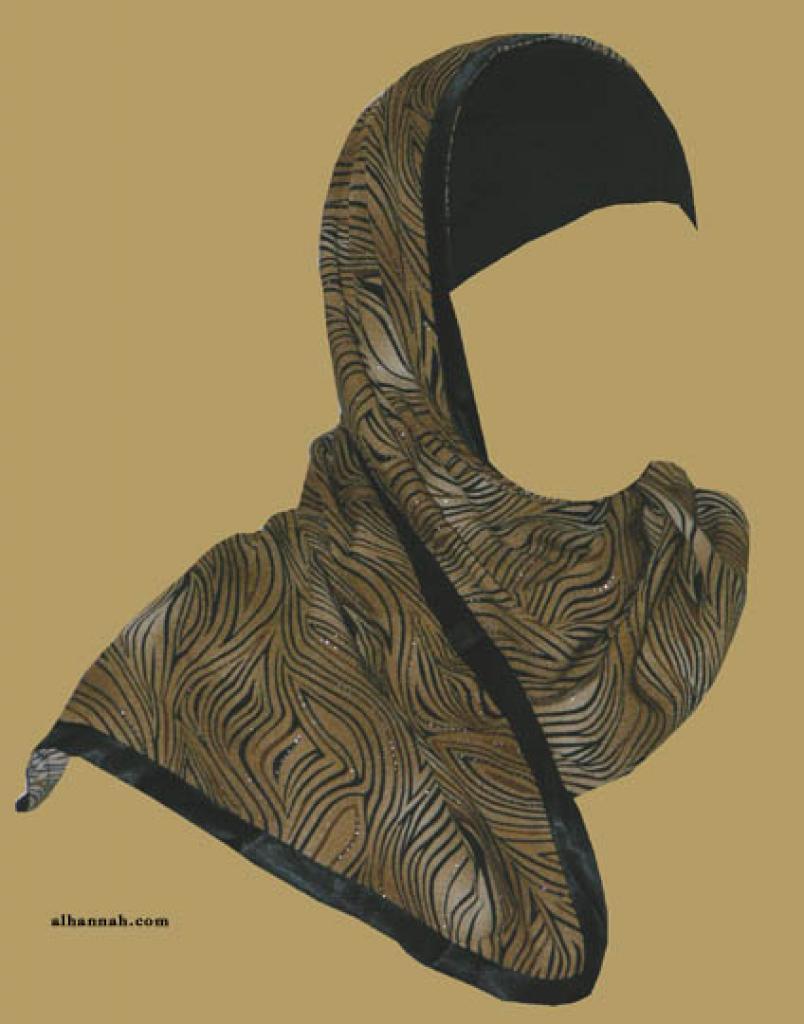 Kuwaiti Style Wrap Hijab hi1169