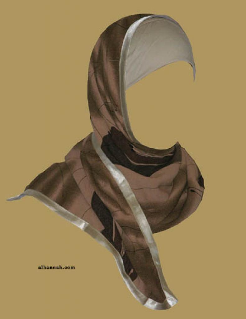Kuwaiti Style Wrap Hijab hi1170