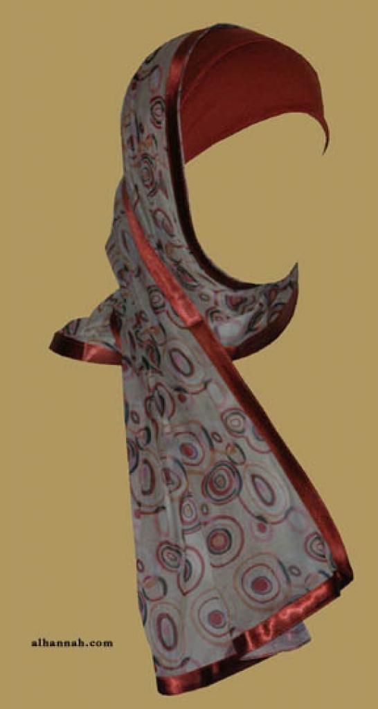 Kuwaiti Style Wrap Hijab hi1171